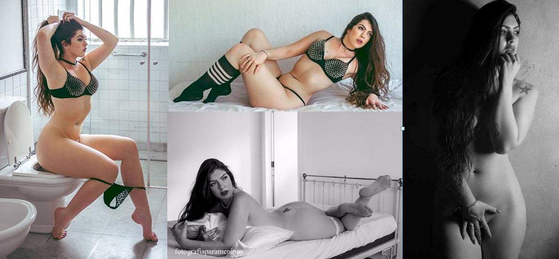 Modelo que só se sente bem quando está nua fala de sexo, posições e sua primeira vez...