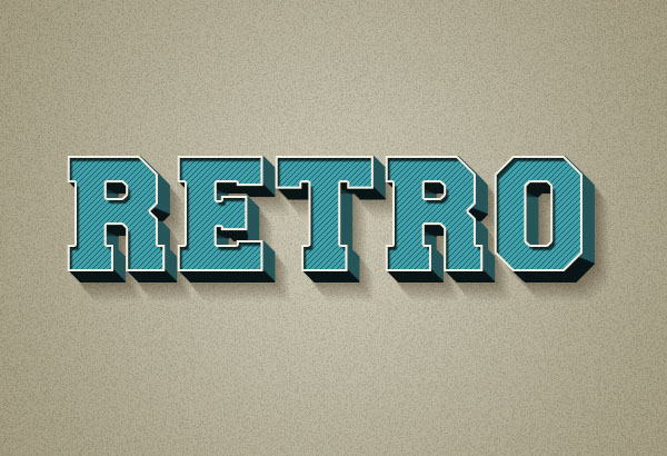 Create a 3D Retro Text Effect Using Layer Styles in Adobe Photoshop