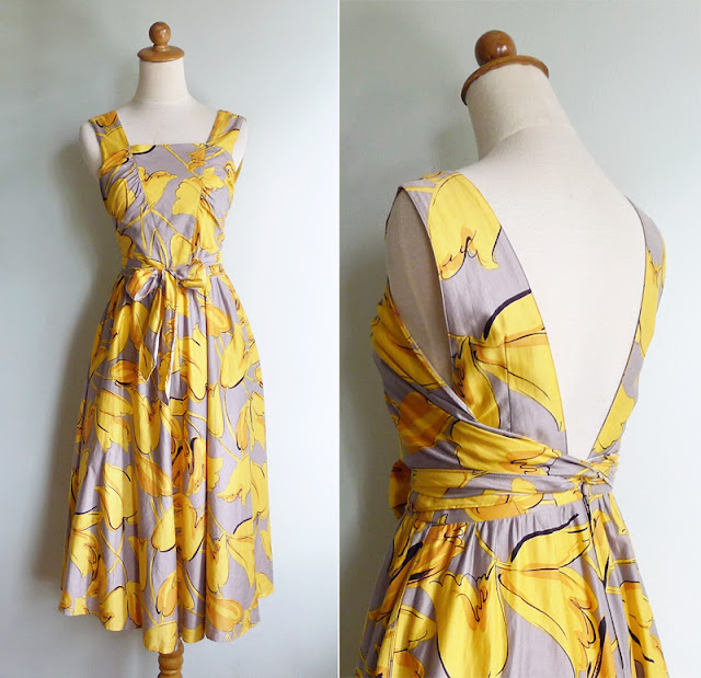 vintage 80's open back dress