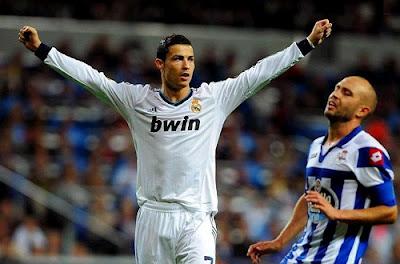 Cristiano Ronaldo celebrates a goal against Deportivo