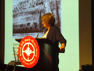 Dr. Lucille Campey at BIFHSGO Conference 2012 in Ottawa, Ontario