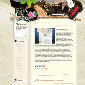 Backpacking on The Great Wall template blog from wordpress. travel blog template. template blog from wordpress. travel blog template