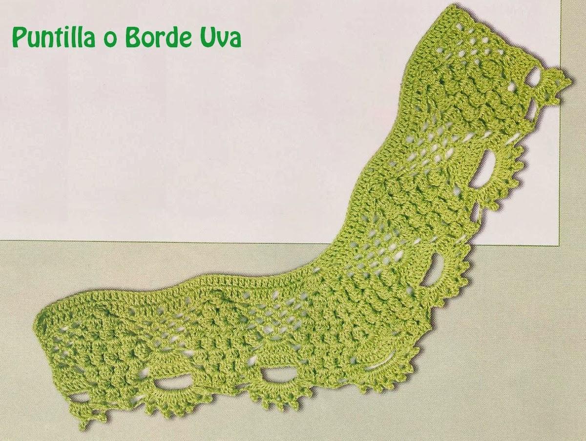 Puntilla o Borde Uva a Crochet   Tejidos a Crochet con Edith