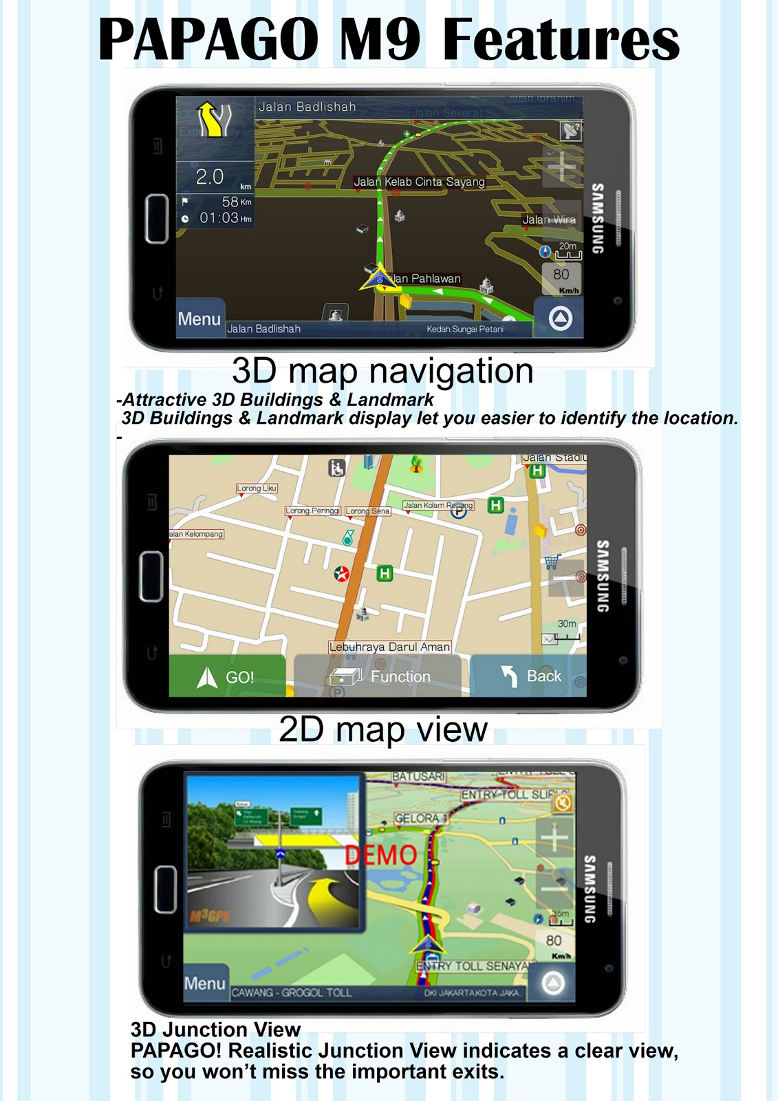PAPAGO M9 GPS NAVIGATION full version for all Android Phones