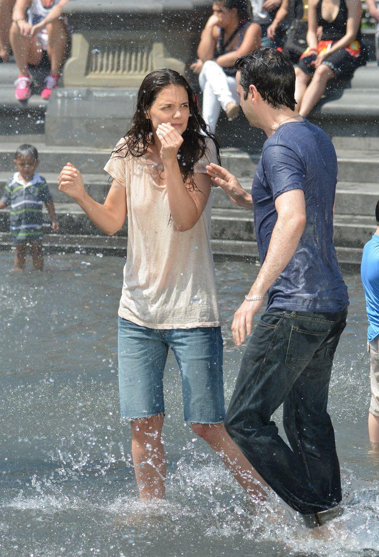 Teen wet shirt fountain