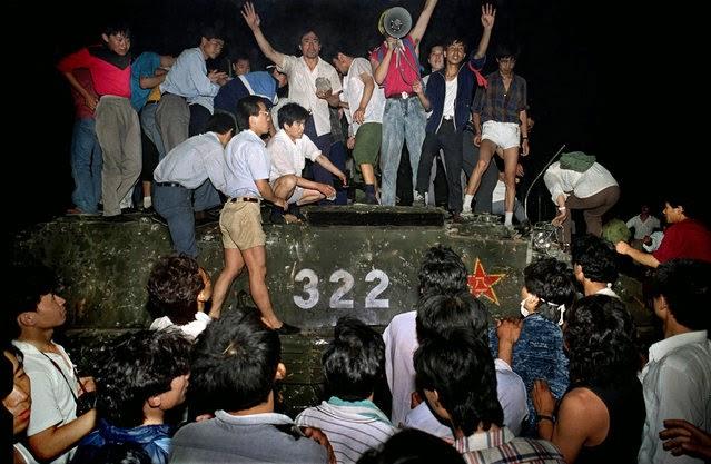 Protesta Tanques Plaza de Tiananmén 1989