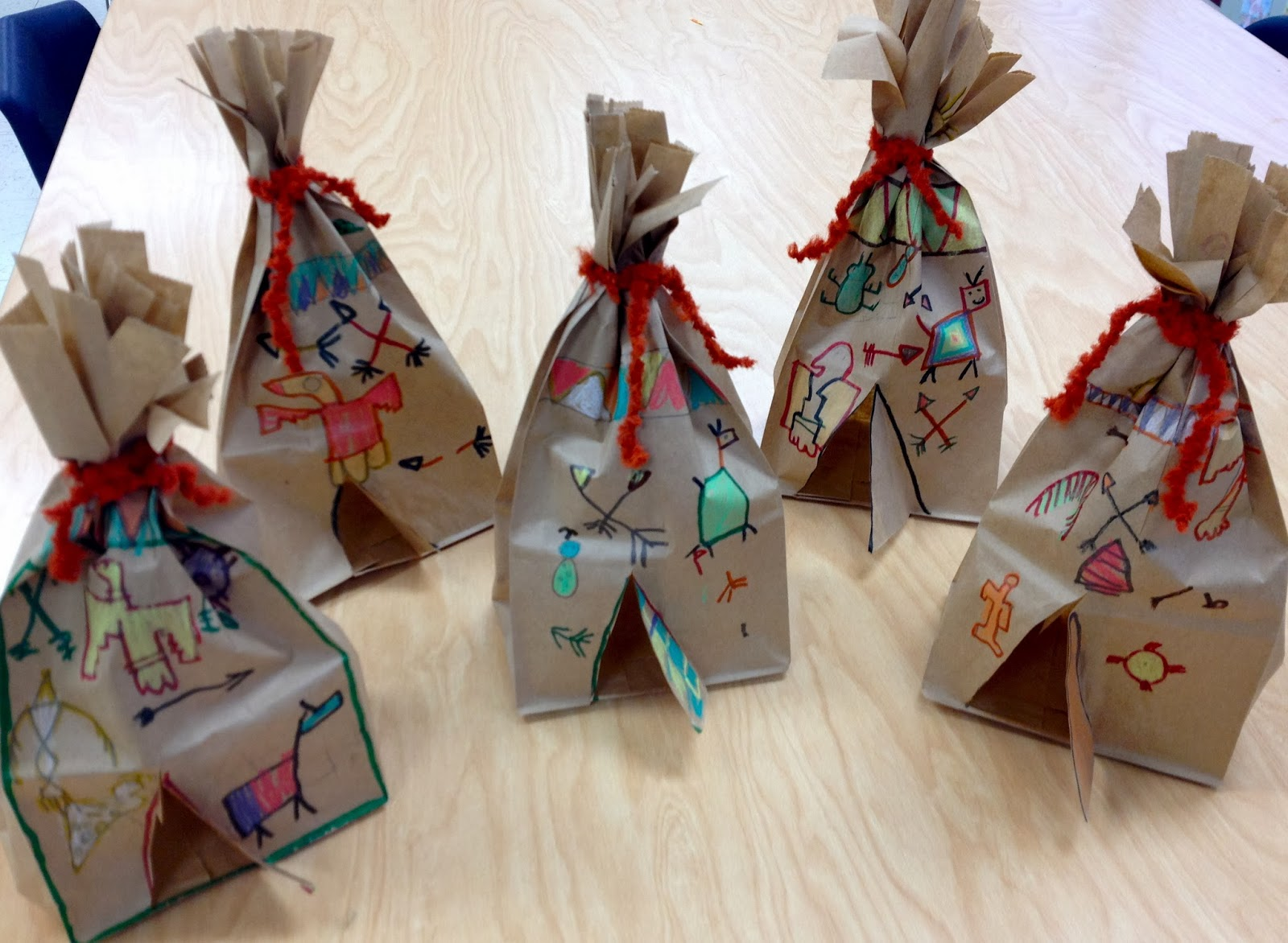 how to make a teepee out of paper bag