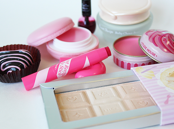 etude house sweet recipe makeup haul baby choux color chocolate