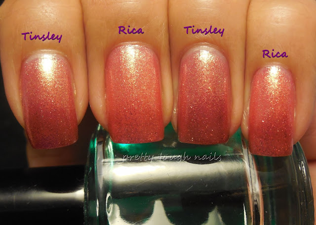 Zoya Tinsley and Rica Comparison