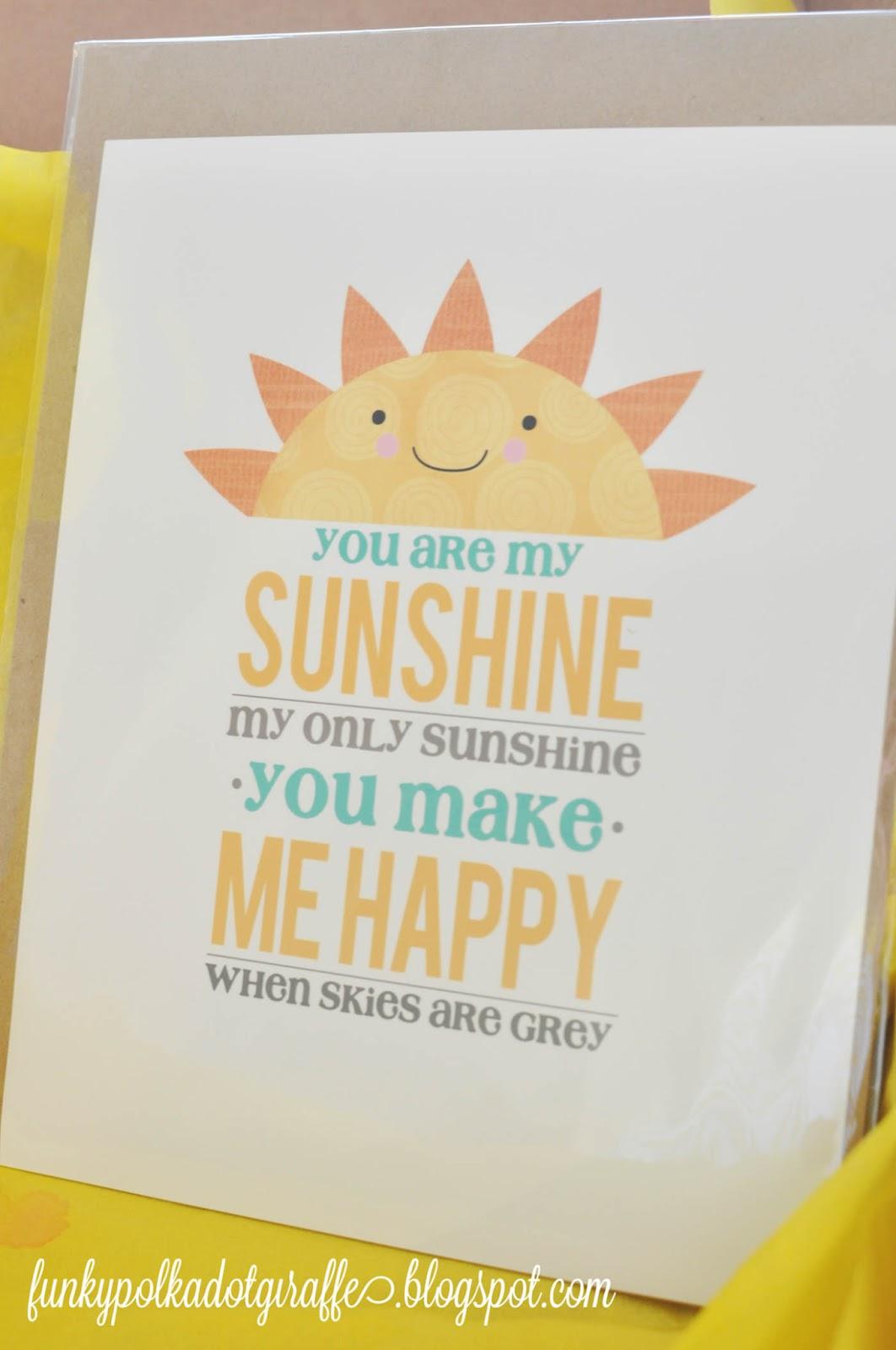 Funky Polkadot Giraffe Box Of Sunshine Gift To Brighten