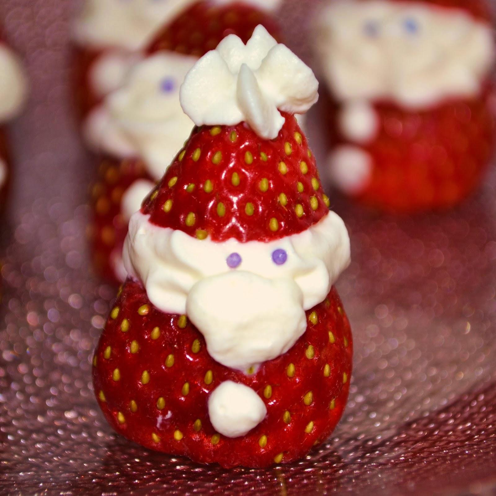 Priv de dessert fraises de no l - Dessert de noel leger ...