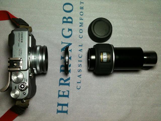 Digiscoping with Fujifilm X100, Pentax 75SDHF
