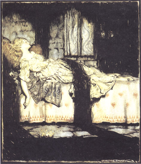 arthur rackham sleeping beauty