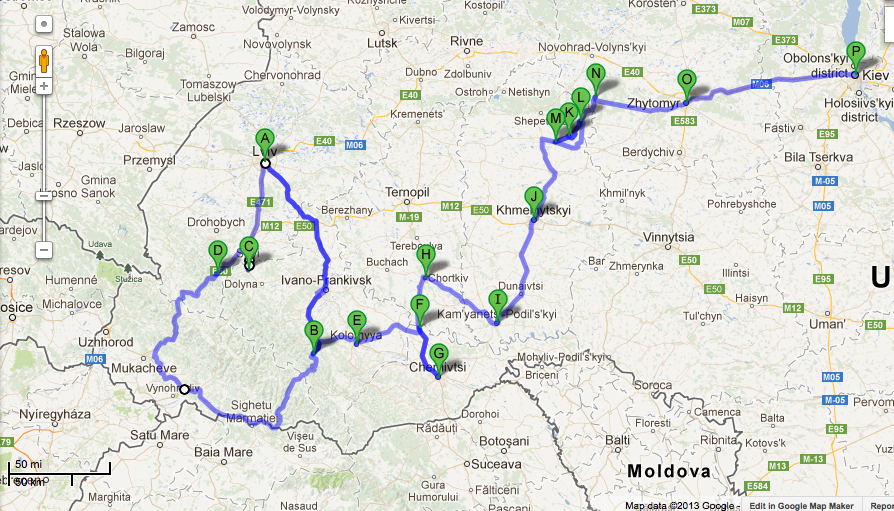 going The Extra Yad Ukraine 2013 Mapping the Journey