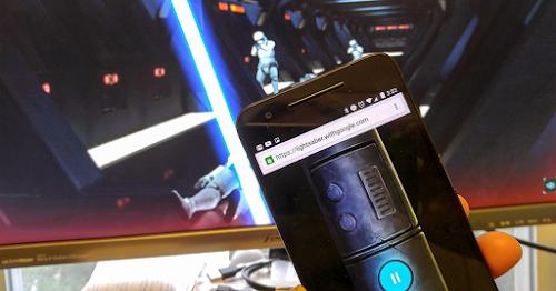 Transforme seu smartphone em um sabre de luz com o Google Chrome