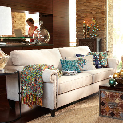 Inexpensive sofas a better choice than ikea 39 s ektorp for Pier one living room ideas