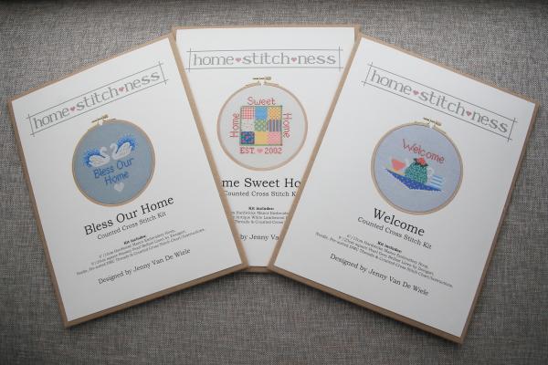 homestitchness cross stitch hoop wall art kits