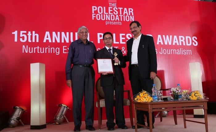 Ayushman Baruah - resipient of PoleStar Award