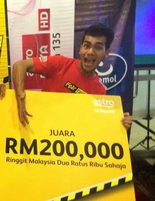 Juara Fear Factor Selebriti Malaysia 2 - Erin Malek & Redha