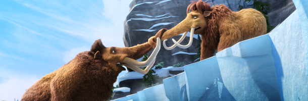 Manny and Ellie in  Ice Age: Continental Drift animatedfilmreviews.filminspector.com 2012