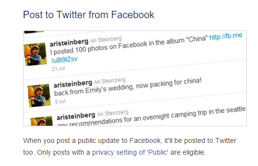 How to Link and Auto Tweets Or Auto Post from Facebook to Twitter