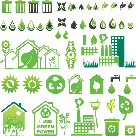 Iconos Ecológicos - Vector