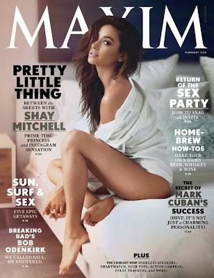 Shay Mitchell sexy lingerie Maxim magazine February 2015 Photo Shoot
