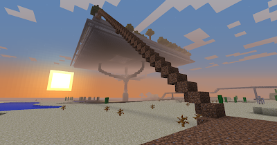Minecraft: Stairs to cloud city