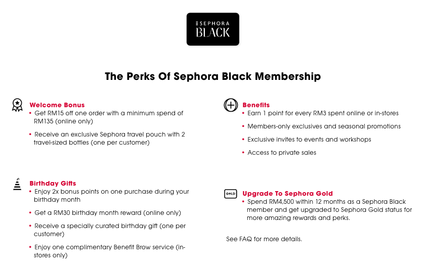 Im A Gold Sephora Membership Holder So During Birthday Month Receiving RM75 Off Any Online Purchase 2x Bonus Points Special Curated Gift