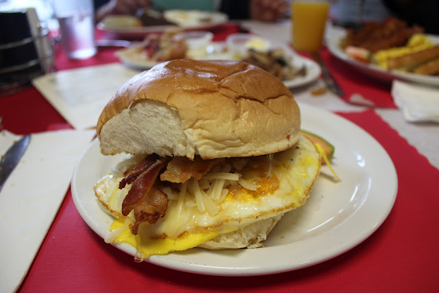 Breakfast sandwich at Centerville Pie Co.