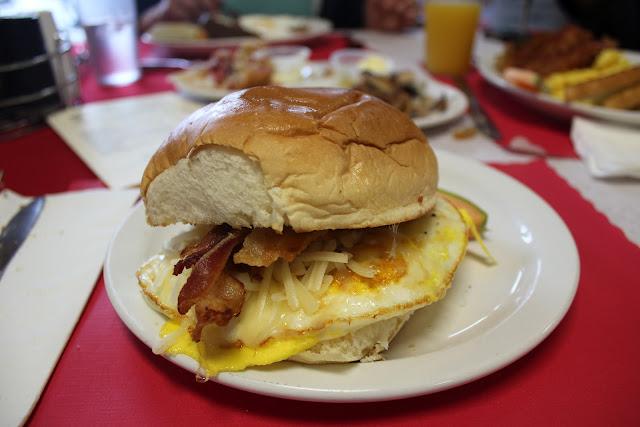 Breakfast sandwich at Centerville Pie Co.