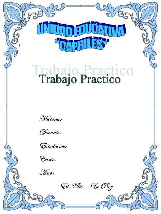 Caratulas para monografias - Imagui