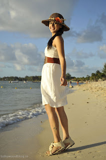 Taapsee Pannu in a Whtte Skirt beach Side Beautiful Pictures