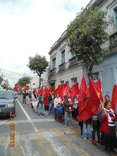 Movilización del Frente Popular Revolucionario en Toluca Estado de México