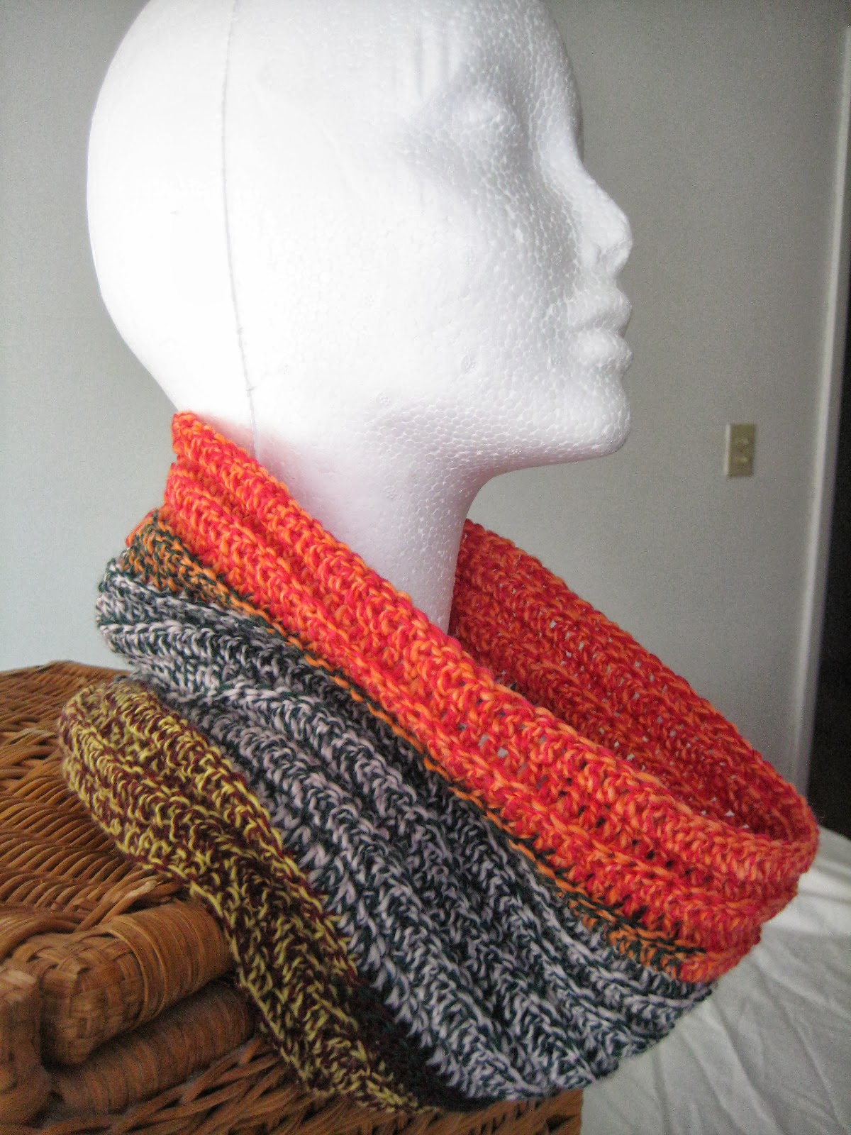 The Crochet Caretaker: Crazy Cowls! With a free pattern!