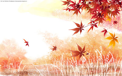 Maple leaves background wallpaper 2011