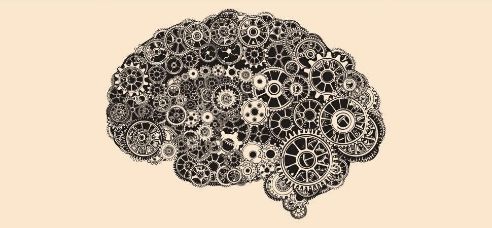 Cerebro con engranajes