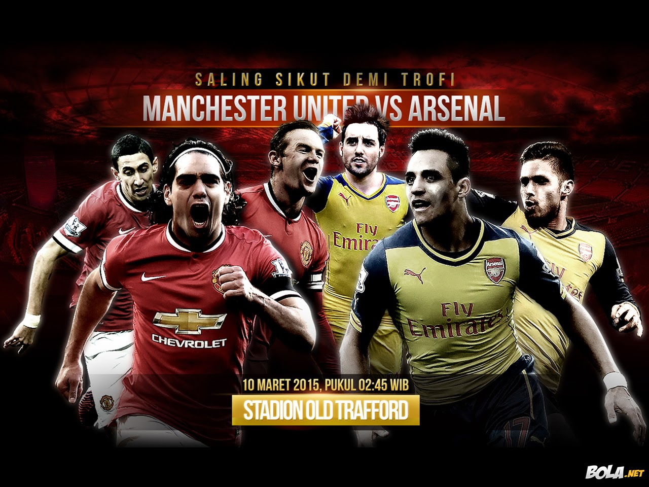 Live Streaming Manchester United vs Arsenal Suku Akhir English FA Cup 10 Mac 2015