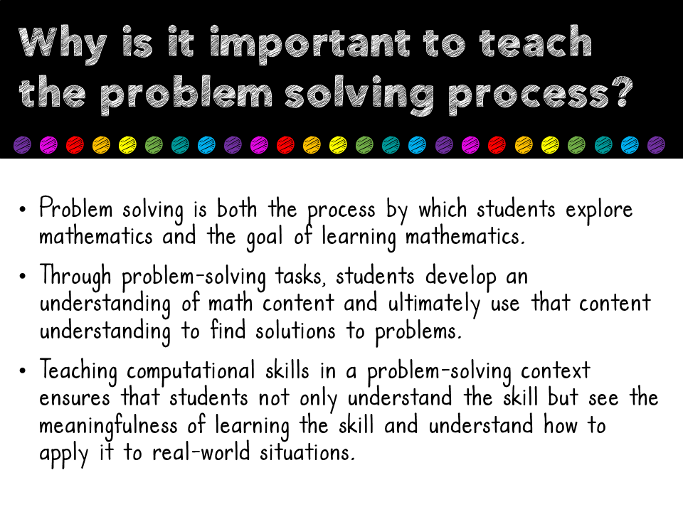 importance of problem solving skills