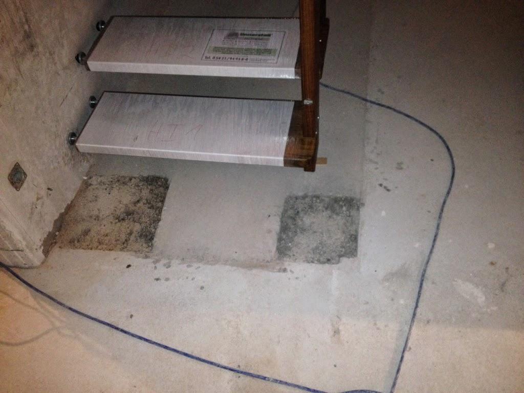 estrich duschrinne abgerundet wurde der tag noch mit der auftragung von haftgrund fr die und. Black Bedroom Furniture Sets. Home Design Ideas