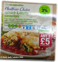 Healthier Choice spinach & ricotta cannelloni