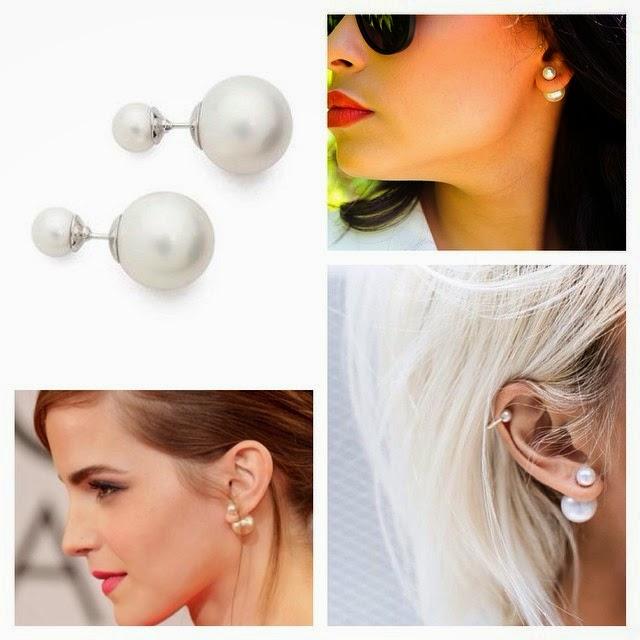 TAnia Claire Australia Double Pearl Earrings