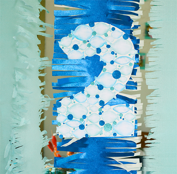 decorazione fiadate con carta glitter