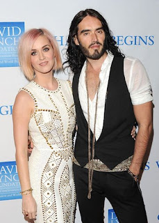 Katy Perry and Russel; Brand at the Change Begins Within Benefit Celebration