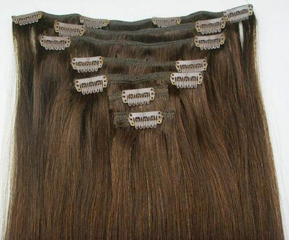 Short Hair Extension Clips 90