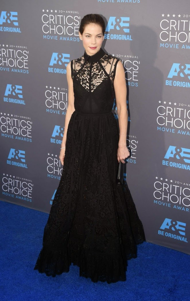 Michelle Monaghan stuns in a black Elie Saab gown at the 2015 Critics' Choice Movie Awards
