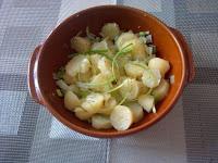 Kartoffelsalat et sa sauce thym, citron, huile d'olive