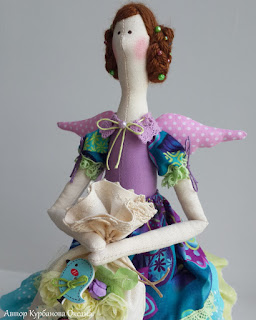 фея лаванда текстильная интерьерная кукла ручная работа