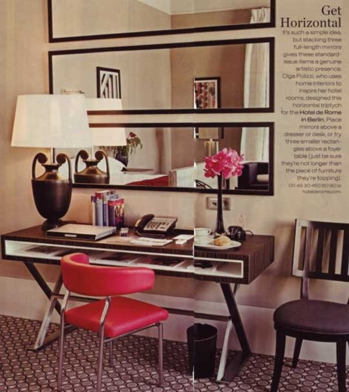Lamb blonde home office chic - Mirror decorating ideas cheap ...