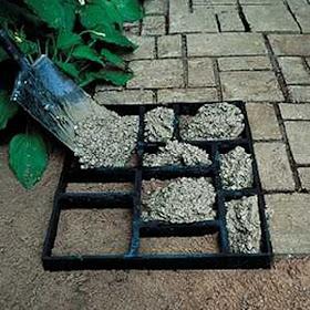 como fazer pedras moldadas no cimento jardim